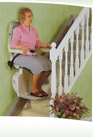 Woman on stairlift